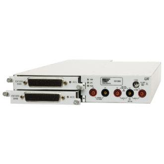 EX1202/EX1262 - Châssis 1U 1/2 rack, 2 emplacements pour cartes EX1200 (EX1262 Multimètre intégré)