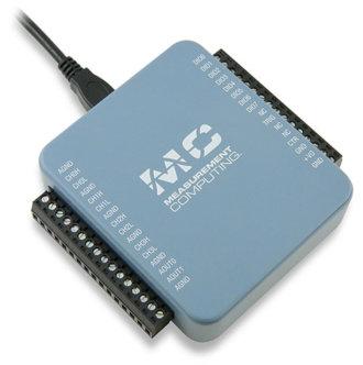 USB-234 - DAQ USB multifonction avec 8 SE/4DIFF A/D 16-Bit, 100 Ke/s, 2 D/A et 8 DIO