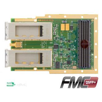 FMC-QSFP+ - Carte FMC, double port QFSP+