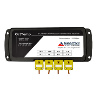 OCTTEMP - Enregistreur Autonome 8 voies thermocouple