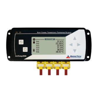 OctTemp2000 - Enregistreur de données avec écran LCD , 8 voies thermocouple