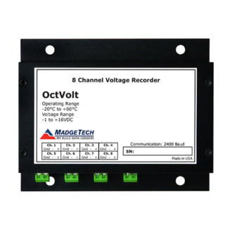 OCTVOLT - Stand Alone, Battery Powered, Eight Channel, Low level DC Voltage data Logger